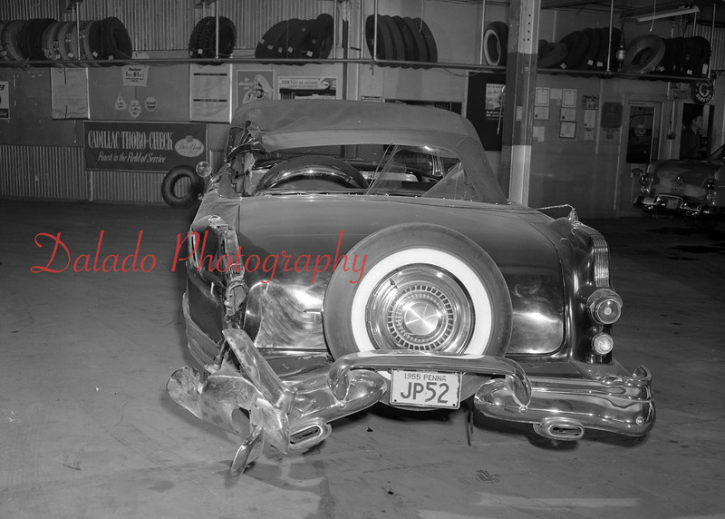 Banged up cars...