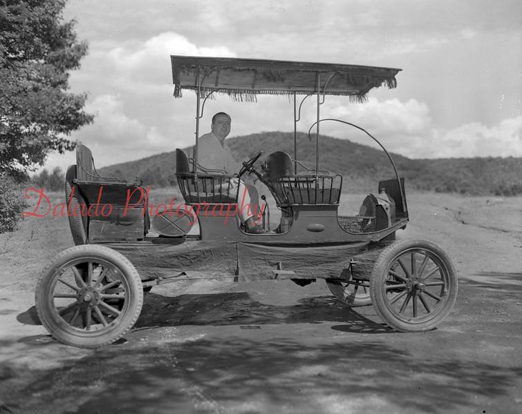 (June 1951) Cool antique car.