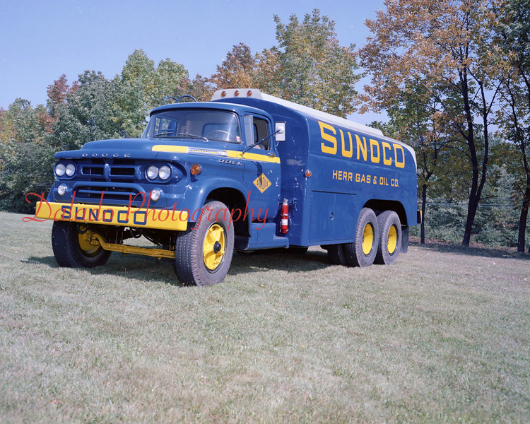 (July 25, 1958) Sunoco Herr Gas and Oil Co. truck.