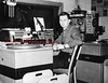 (The next several photos courtesy of Tom Kutza.) Tom Kutza, in his younger days, spins records at the former WISL Radio studios in Shamokin, which was broadcast from the Lark Building at Sunbury and Rock streets from 1948-2001. Tom was a DJ there from Oct. 9, 1960 to May 14, 1998.