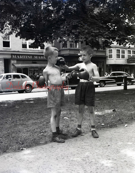 "Unknown child ""boxers"" on Market Street."