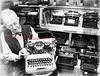 (1984) Emerson Hollenback's collection of typewriters.