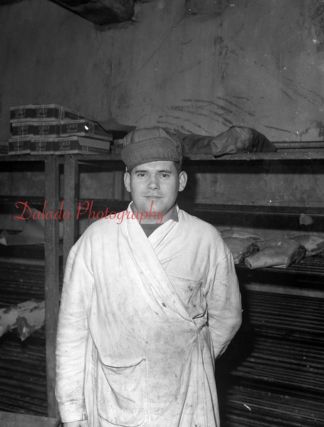 (1951) Richard Burd, butcher from Paxinos.