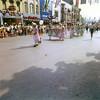 Y-Teens walking down Independence Street.