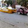 Floats traveling down Arch Street towards Second Street.