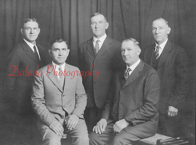 Epler brothers. Pictured are, standing, Fred, Samuel and George; seated, Frank and William.