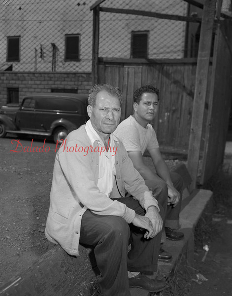 "(August 1951) ""James Minitti and Bruno Coronette."""