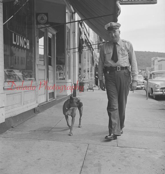 Mount Carmel officer and dog.