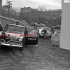 (11.22.1956) Members of the Shamokin High School Class of 1957 washing a police cruiser as a community service gesture.
