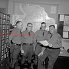 (01.31.1957) Officers of the Shamokin  Sub Station  to be transferred are, from left, Cpl. Warren Thomas and Richard Wheeler, who will report to Troop headquarters at Montoursville, and Cpl. James Leeois, who will go to Milton, and Sgt. Alex Rudville, who will be given the Selinsgrove sub station.