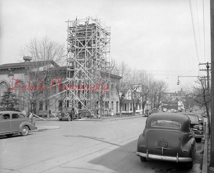 (03.27.1952) Chestnut Street Methodist Church on Third Street in Shamokin.