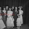 (05.03.1953) St. John's Reformed Church. Members of the Shamokin Hospital Auxiliary and friends staged a fashion show of yesteryear, sponsored by Wayne Turner. Shown are, front row, from left, Billie Rene Hoffhines, George Turner and Maria Turner; second row, Helen Jane Murphy, Joann Zimmerman, Jeannette Wehry, Mrs. Richard Hoffhines, Peggy Stank, Mrs. Wayne Turner and Barbara Wiest.