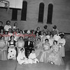(02.24.1955) Lincoln St. Methodist Church choir repeat the minstrel show for the benefit of Grace Lutheran Church. Pictured on Feb. 24, 1955, are, front row, seated, Bonnie Shipe, Barry Eveland; front row, Faye Savidge, Betty Sampsel, Martha Spotts, Kimber Savidge, Mary Kohler, Mary Edwards and Esther Booth; second, Betty Eveland, Dororthy Mattern, Hilda Derrick, Lawrence Herb, Sadie Strausser, Joseph Kaseman, Irene Walk, Sam Eveland, Sam Platt, Helen Richie, Robert Richie, Any Strausser, Phil Krebs, Sue Strausser, Clarence Werline and Phoebe Shyer; third, Mary Jane Markefka, Stanley Jaciewicz, Edward Shipe, Elmer Strausser, Robert Kohler and Howard Edwards.