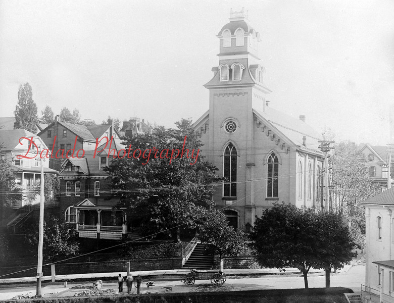 Lincoln Street Methodist Church, it was organized in 1838, after Rev. Brown had preached in the schoolhouse on Dewart Street. The first resident preacher was Rev. B.F. Stevens, followed by Rev. J.F. Porter, who was the first preacher in charge of the church. During 1856, the construction of a church was discussed. H.P. Helfenstein donated 17 lots on Lincoln Street. The church was completed in 1859. In June 1927, a rebuilding program was launched for extensive renovations.