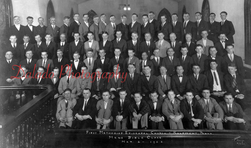 (03.02.1926) First Methodist Episcopal Church, Kulpmont, Men's Bible Class.
