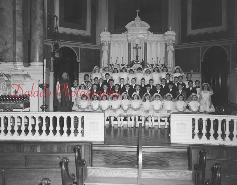 (May 1966) St. Ed's communion.