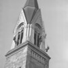 (Nov. 1960) Work on the St. Edward's Church steeple.