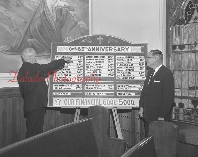 (1959) St. John's United Church of Christ 65th anniversary.
