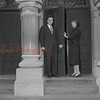 (11.06.58) Rev. and Mrs. George Bingaman open the church doors at St. John's Church of Christ for the first time.