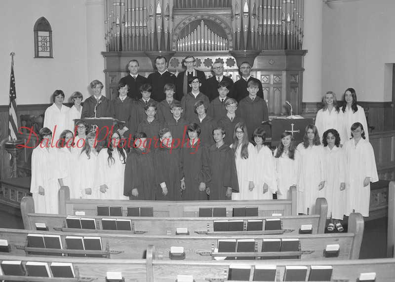 (1971) St. John's United Church of Christ confirmation class.
