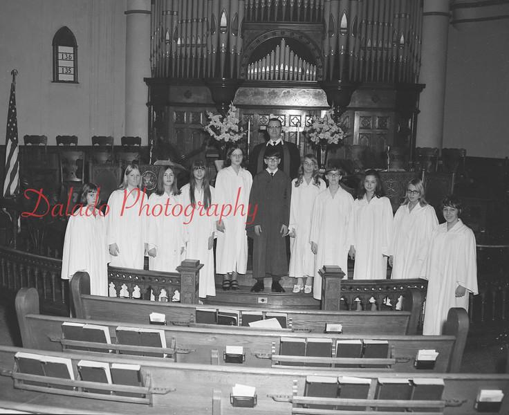 (1970) St. John's United Church of Christ confirmation class.