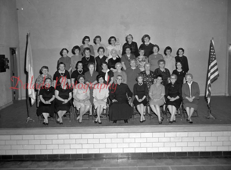 (1967) St. Mary's closing April 1967. Rosary Society.