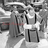 (05.24.56) Rev. Charles J. Petrasek, pastor of St. Marys, walks in procession to celebrate his 25th year as a priest.