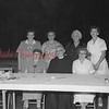 (09.04.1958) Former and present parishioners gather around Father Celestine at St. Stan's hall. Seated are, from left, Irene Bartos, Father Celestine, and Joseph Saczepanick, of Baltimore; standing, Agnes Broney, Martha Piechowiak, Eslie Kruioteki, Mary Covacevich, all of Baltimore.