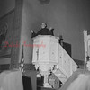 (09.04.1958) Father Celestine, of St. Stans, speaking from the pulpit addresses members of the parish and his visitors from St. Stan's Parish, Baltimore.