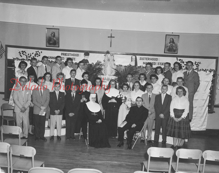 (04.11.57) St. Stan's Parochial School vocational program sponsored by the St. Dominic Sanis Civics Club under the direction of Sister Mary Emile.
