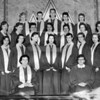 (07.18.57) Youth choir of the Trevorton Methodist Church are, front row, from left, Max Cook, director; Kenneth Smith, accompanist; Gaven Lasitski, Kay Wilkinson, Sharon Shalley, John Watkeys, Dorothy Watkeys, Margaret Walburn, Judith Erdman, Monica Campbell, Joyce Kline, Donna Cook, Ann Smith, Mary Walborn, Sara Jane Neilhart, Ruth Ann Stoud, Linda Neihart, Gary Reeder, Irvin Strohecker, Neil Deibler and Virginia Miller.