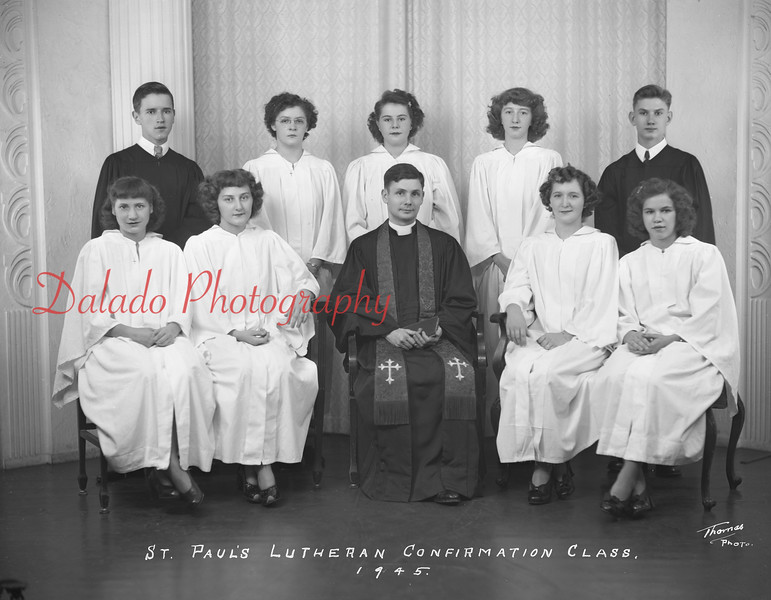 (1945) Pauls Lutheran, Gowen City.