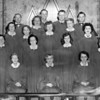 (07.18.57) Senior choir of the Trevorton Methodist Church are, front row, from left, Rose Straub, Arthur Brown and Fred Mensch; second, Charles Mairs, Donald Klinger, Warren Reed, Paul Bohner and Mae Barnhart; third, John Reed, Leon Krebs, Matt Konzel, Kenneth Smith, Leno Tomlinson; fourth, James Woolridge, Kenneth Smith, Fred Mensch and Leon Krebs.