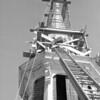 (10.19.56) Trinity Lutheran Church steeple work.