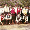 (1964) Excelsior Inn Shandy and Hill Trader Trapers and Mule Skinners decked out for Shamokin's Centennial. Pictured are, kneeing, from left, Claude Madara, Frank Motto, Jim Marand, Ed Kurtz; back, Jim Stahl, John Madara, Les Taylor, Sunky Oshuga, Don Madison, Joe Ryan, Whity Swisher, Art Klemick, Louie Kerstetter and John Jashner.