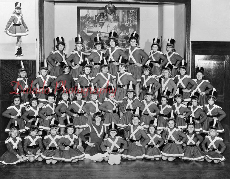 (March 1964) Majorette group.