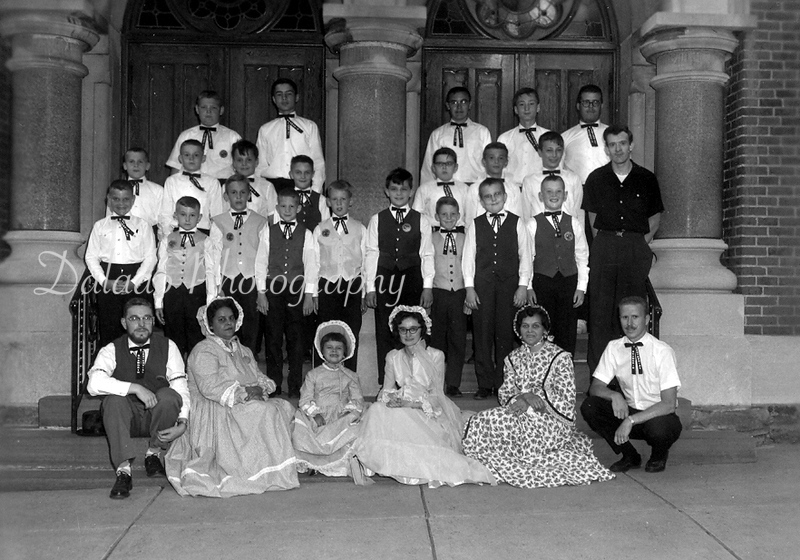 (1964) Unknown name for this group, but taken in front of St. John's Chuch of Christ on Eighth Street.