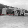 (February 1958) Gulf Station in Tharptown.