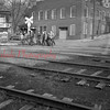 (01.19.1952) Boys crossing the tracks at Clay Street.