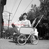 (1956, April through July) Mother and baby near the Shamokin Citizen.