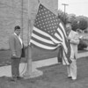 (July 1960) Flag raising.