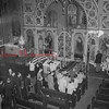 (08.06.1952) Scene at the SS. Peter and Paul Church, where mass funeral services were held on Aug. 6, 1952, for four members of the Mayernick family, Midvalley, who were killed in a auto crash Aug. 1.