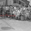 (06.19.1952) Residents of West Mulberry Street rally around one of the barricade erected there yesterday by the housewives in protests against faulty condition of the dirt thoroughfare. Torrence Spotts, president of the Coal Township Board of Commissioners, declared the protest illegal and premature, and said the barricade must be removed.