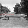 (06.19.1952) Barricade on West Mulberry Street that was erected there yesterday by the housewives in protests against faulty condition of the dirt thoroughfare. Torrence Spotts, president of the Coal Township Board of Commissioners, declared the protest illegal and premature, and said the barricade must be removed.