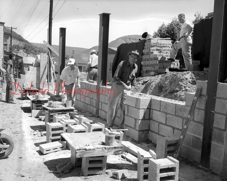 (07.12.53) Building under construction in Ferndale.