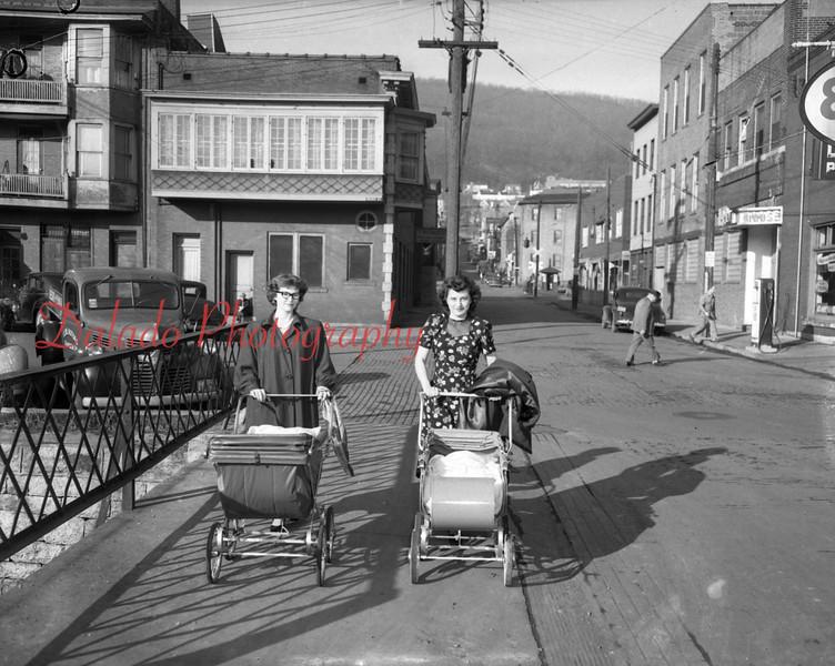 (1954) Stroller moms.