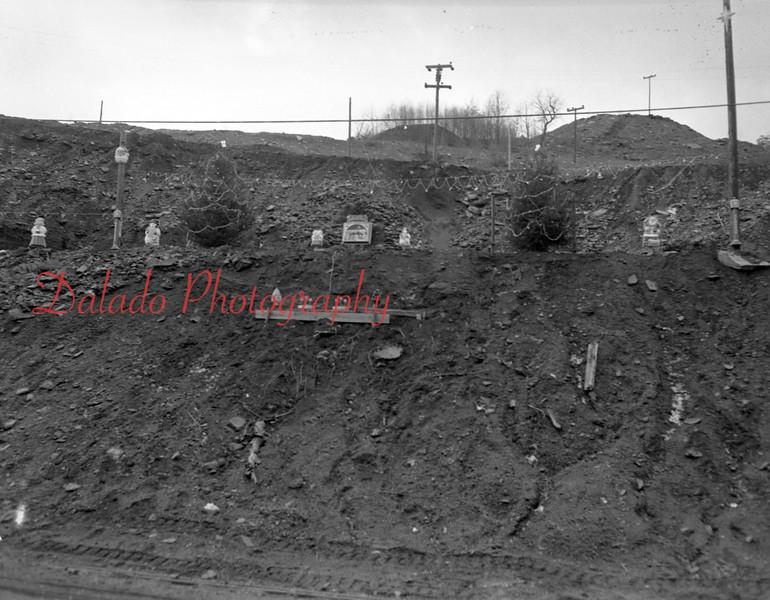 (Dec. 1954) Looks like a Nativity scene on a culm bank.