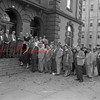 (Oct. 1955) Part of the large crowd representing the Independent Voters League of Northumberland County is shown at the courthouse.