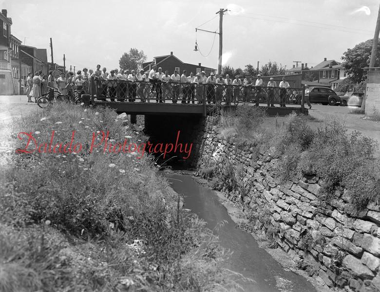 (July 1955) Bridge in Mount Carmel.