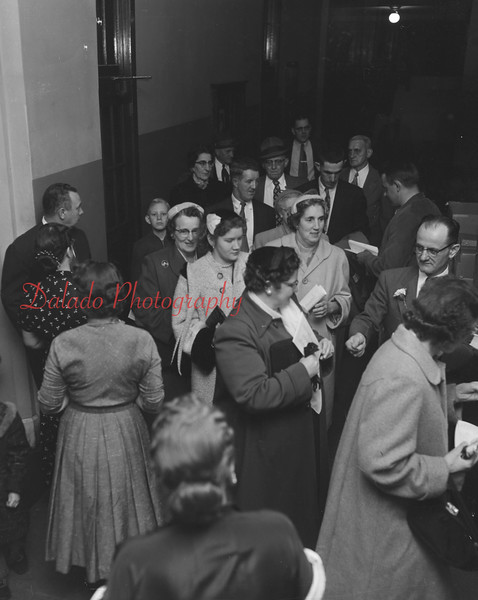 (Oct. 1956) Unknown event at St. Edward's hall.